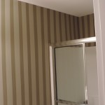 Bathroom with Painted Vertical Stripes