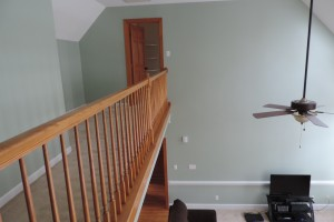 Two Story Ceiling and Wall Repaints, Wainscotting and Decorative Painting
