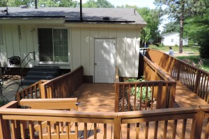 Raleigh Exterior Handicap Ramp Solid Stain