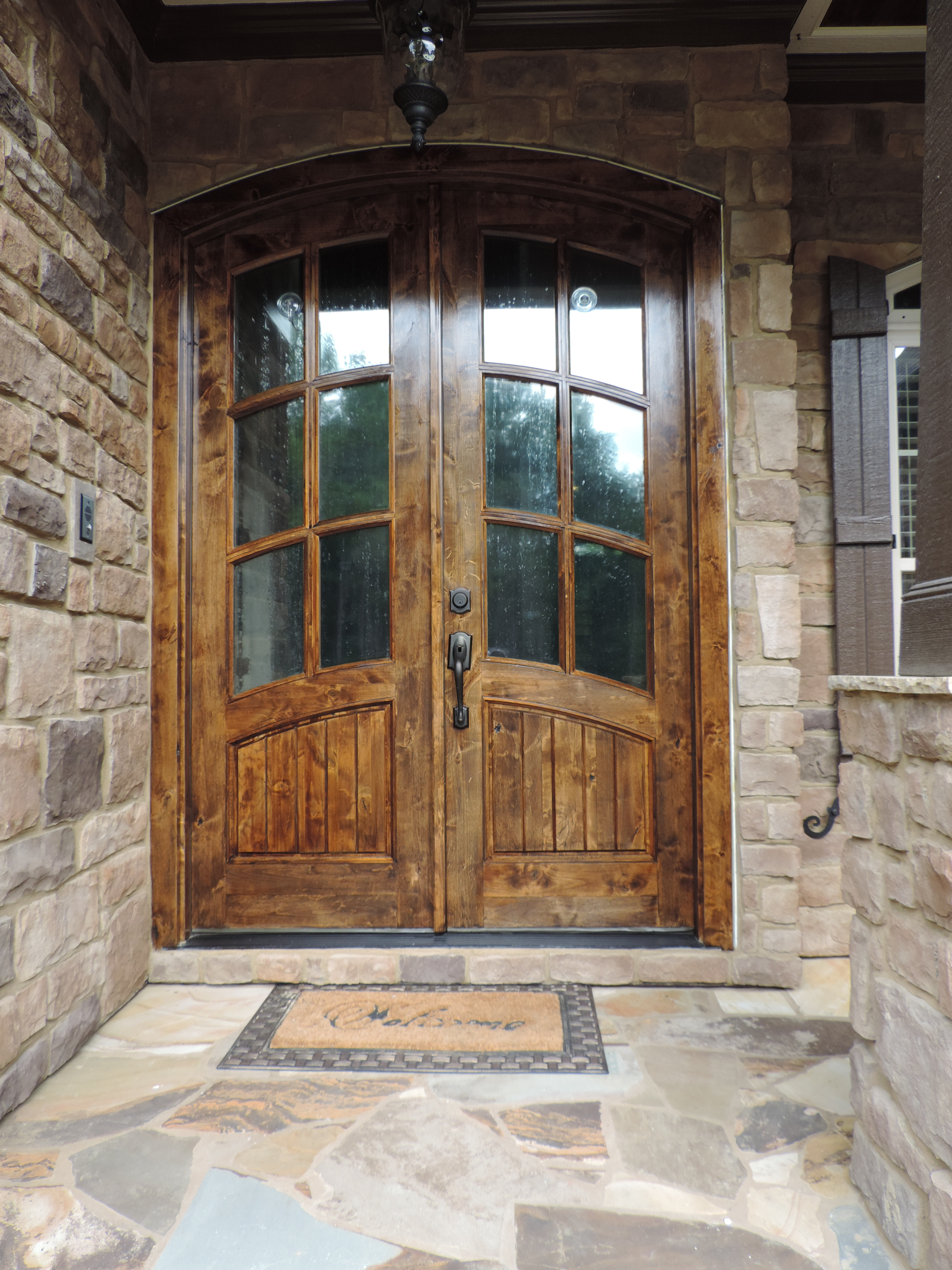 4896 #936938 Stained Front Door Triangle Precision Painting save image Precision Entry Doors 45773672